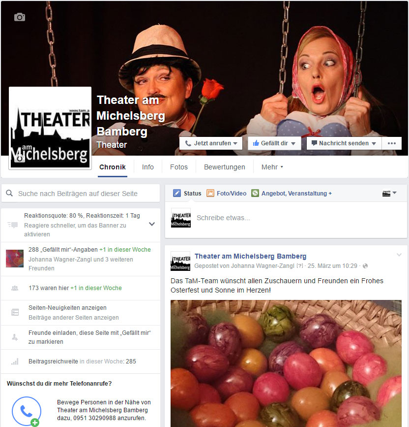 Theater am Michelsberg auf Facebook