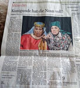 """FT-Bericht zu """"Kuni und Kunigunde"""""""